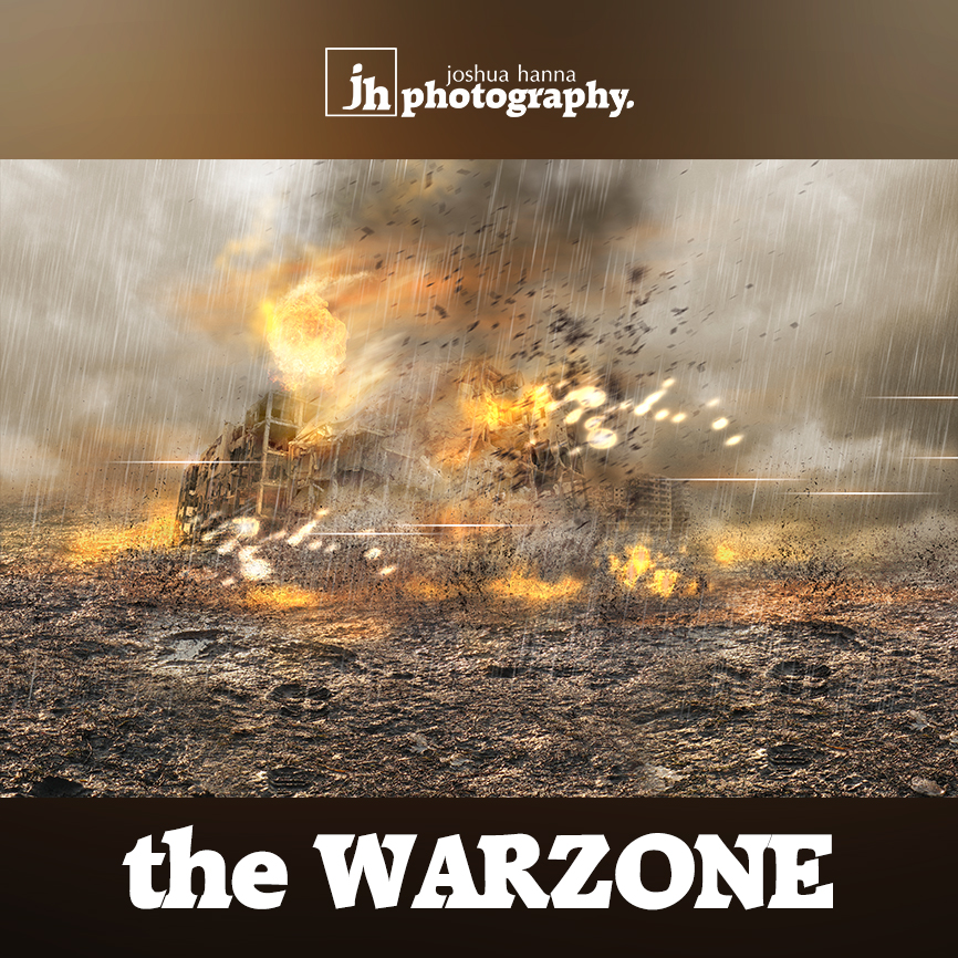 Photoshop Template | Digital Background | War Zone