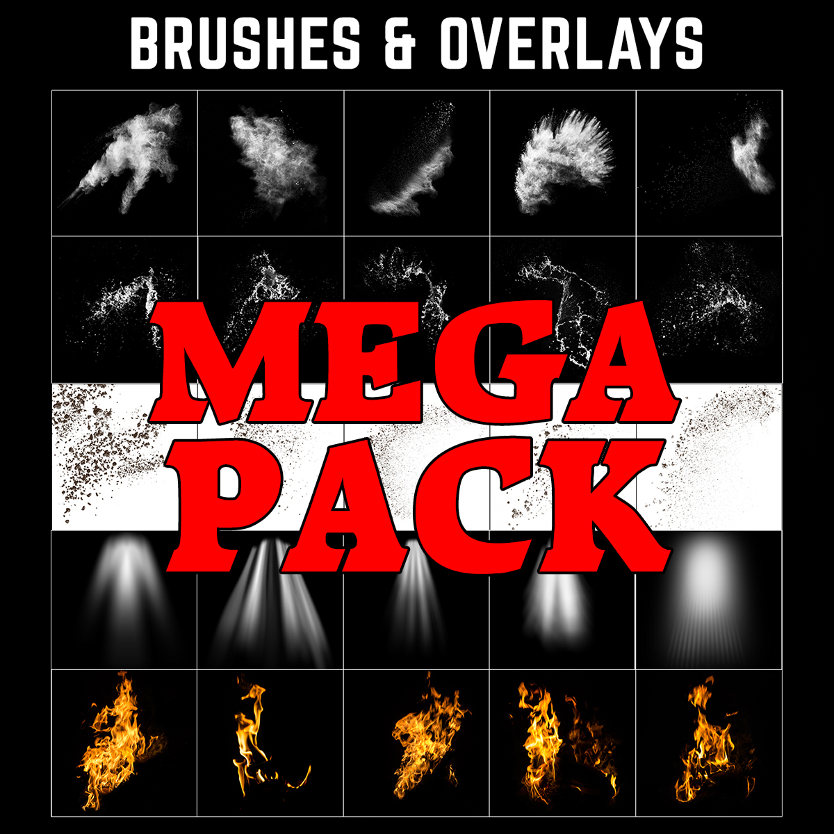 Photoshop Brushes and Overlays