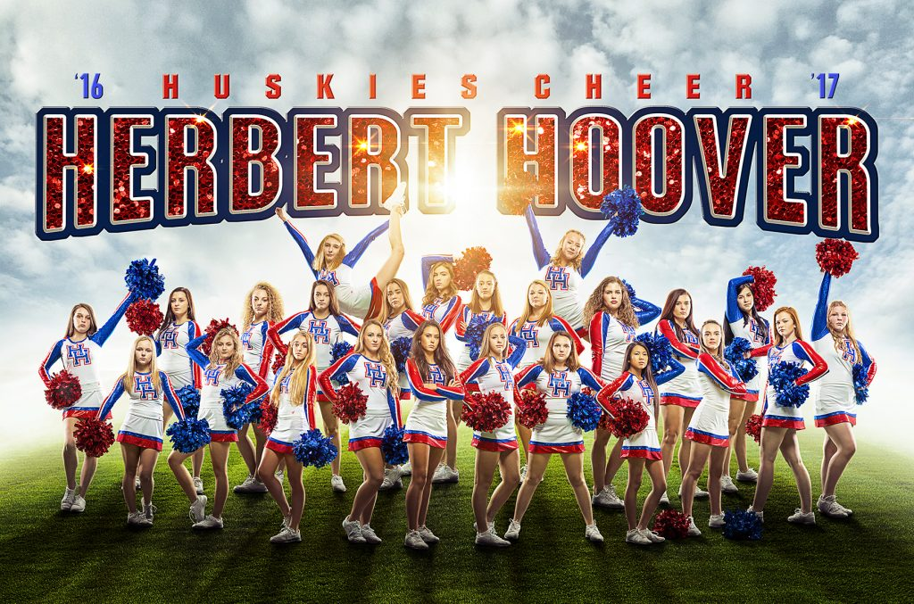 Cheer Photoshop Template | Digital Background