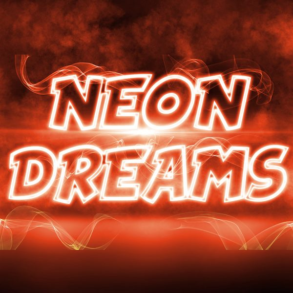 Neon Dreams - Photoshop Template | Digital Background