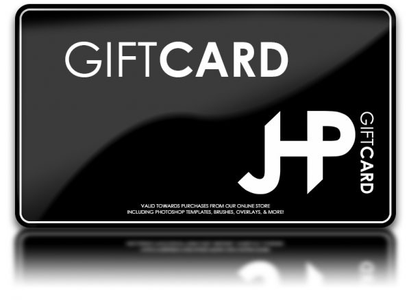 Adobe Photoshop Template Digital Background Gift Card