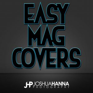 JHPBackgrounds Easy Magazine Covers Photoshop Template | Digital Background