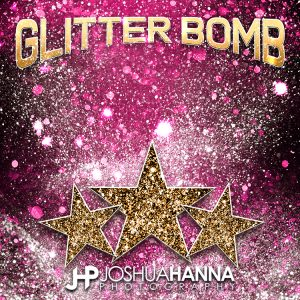 JHPBackgrounds Glitter Bomb Photoshop Template | Digital Background