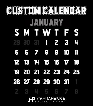 JHPBackgrounds Photoshop Calendar Template